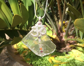 Crystal yoga chakra necklace