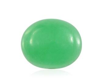 Green Jade Dyed Oval Cabochon Loose Gemstone 1A Quality 11x9mm TGW 3.50 cts.