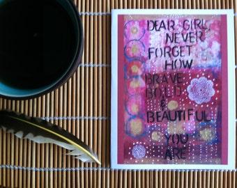 Card- Dear Girl