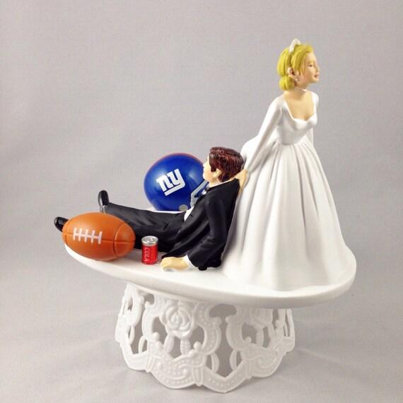 New York Giants Wedding Cake Topper