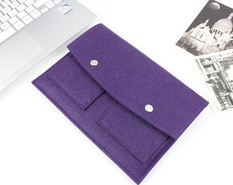 "Felt Macbook Pro 15.4"" sleeve, Macbook 15"" sleeve, Macbook 15.4"" case, Macbook Pro Case, 2016 Macbook Pro 15 Touch bar, laptop case SJ315"