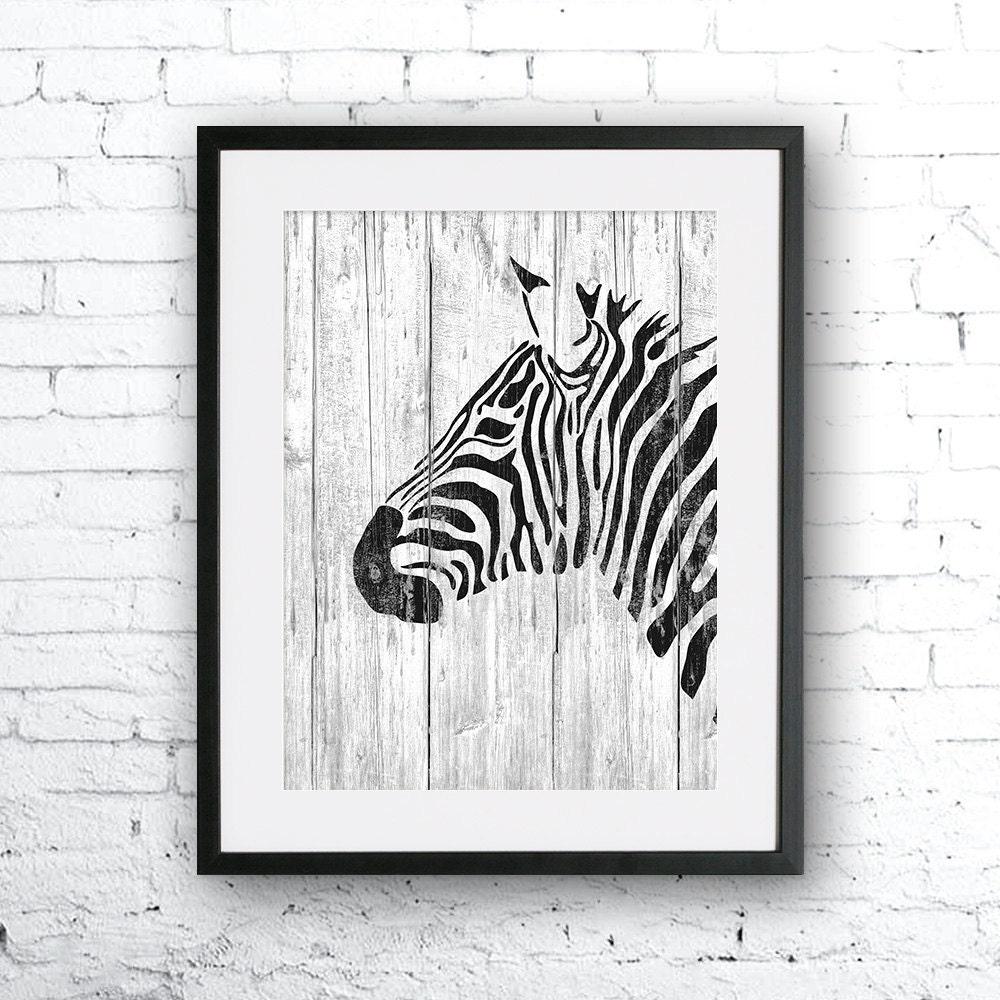 zebra art illustration zebra painting zebra wood wall art. Black Bedroom Furniture Sets. Home Design Ideas