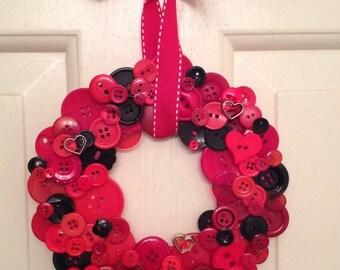 Red Valentine Wreath