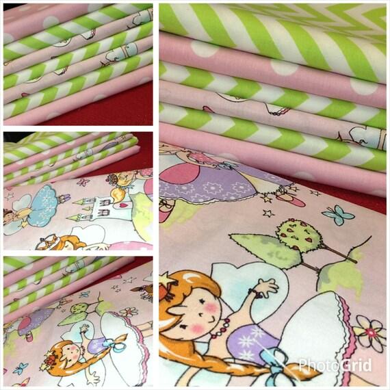 Kids fabric fabric bundle baby fabric fairies fabric for Kids apparel fabric