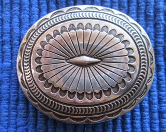 Oval Concho Buckle