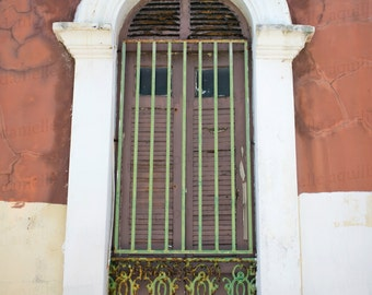 Old San Juan, Puerto Rico Photography, Vintage Architecture, Door Art, 8x12 Photo Print