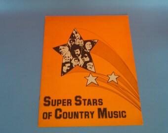 Super Stars of Country Music portfolio    circa  1970's