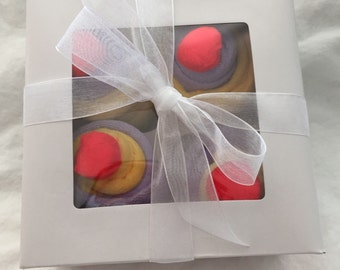 Baby Wash-cloth Cupcakes set of 4