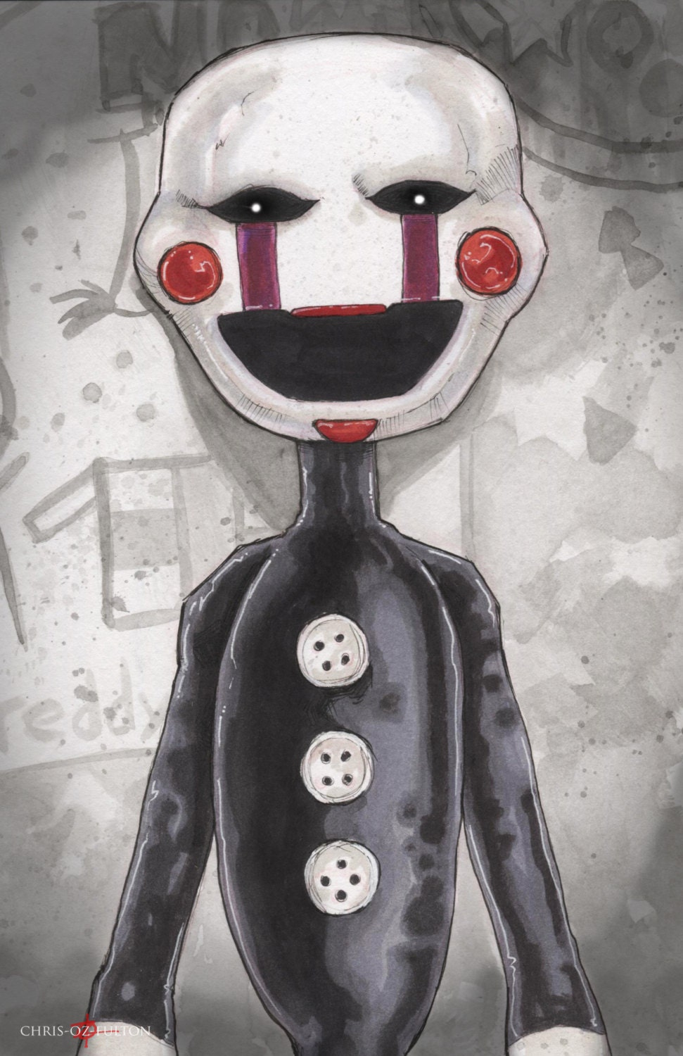 Five Nights At Freddy S Bedroom Decor: Five Nights At Freddy's Marionette Poster Print