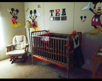Mickey Mouse Crib Bedding On Etsy A Global Handmade And
