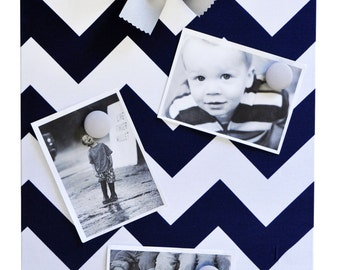 Navy Chevron Magnet Board