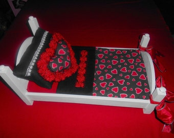 "American Girl  ""My Valentine"" Poster Doll Bed"
