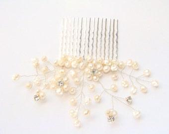 Wedding Hair Accessories Pearl Bridal Hair Comb – Bridal Hair Piece - Freshwater Pearl Hair Comb - Ivory Pearl Comb - Pearl Bridal Comb