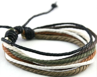 Handmade Hemp Bracelet Multi Color Wrap Wrist Braclet Hemp-2