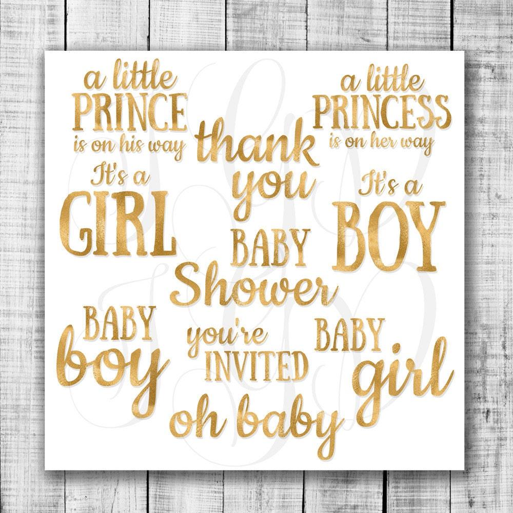 baby shower word clip art - photo #4