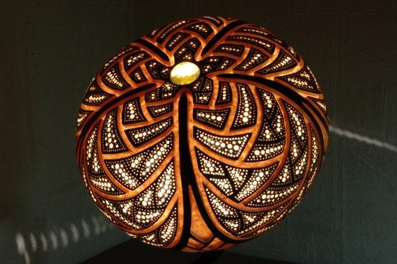 handgemachte r hren kalebasse lampe 39 harmony 39. Black Bedroom Furniture Sets. Home Design Ideas