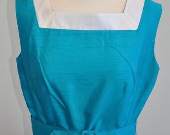 Never Worn Silk 60's Maxi Dress