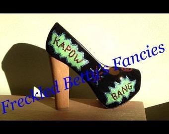Comic kapow heels