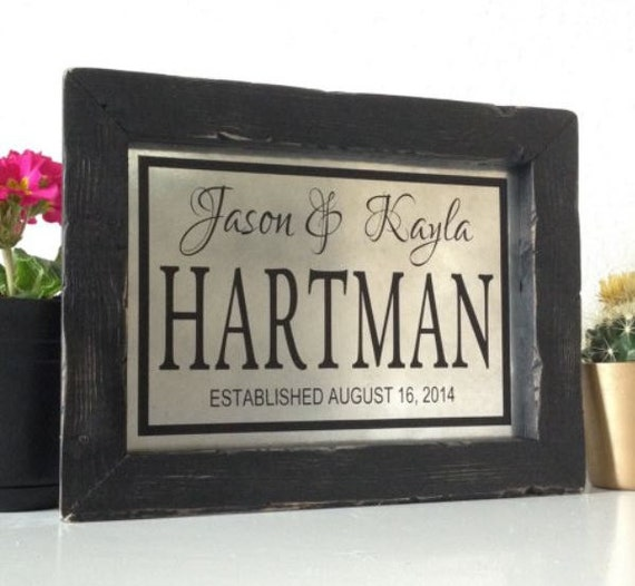 Unique Personalized Wedding Gifts Couple : Unique Wedding Gifts For Couple Personalized Wedding Gift Last Name ...