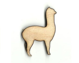 Llama - Laser Cut Out Unfinished Wood Shape Craft Supply ANML52