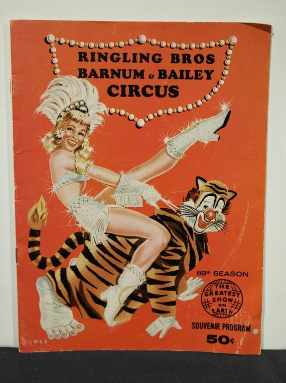 Vintage 1959 Ringling Brothers Barnum And Bailey Circus