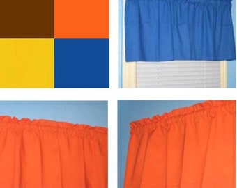 """CUSTOM ORDER for marisab88: Lined 52"""" wide valance"""