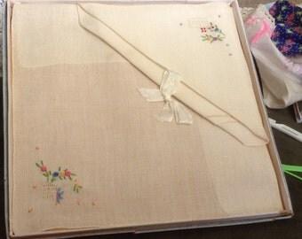 Pure Linen Handmade Handkerchief