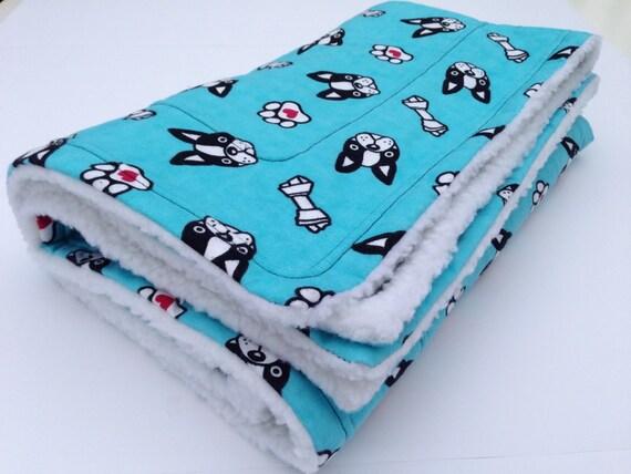 Boston Terrier Dog Blanket Pet Blanket Flannel Baby Blanket
