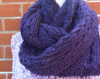 knitted scarves cowl snood scarf soft knitted scarves warm summer circle scarver cowl soft knitted wool in purple