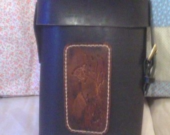 Handmade Leather wine tote