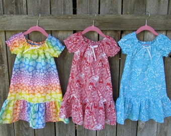 Toddler Peasant dress with ruffles.