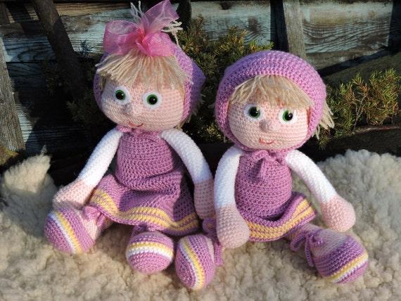 Amigurumi Russian Dolls : Amigurumi Crochet Pattern Masha The Russian Girl Amigurumi