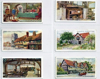British Cigarette Card Set (Full Set of 25 Cards) - Shakespearean Series Issued 1917 by Players Cigarettes. A Tribute to William Shakespeare