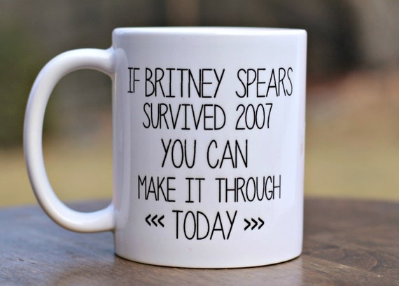 britney spears motivational mug