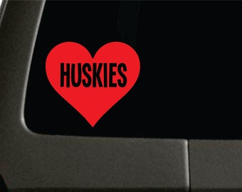 Huskies Decal I love Huskies