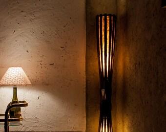 Rustic Floor Lamp, Bamboo Lamp, Wooden Lamp, Bamboo Furniture, Reclaimed Wood Furniture, Standing Lamp, Rustic Furniture, Boho Floor Lamp