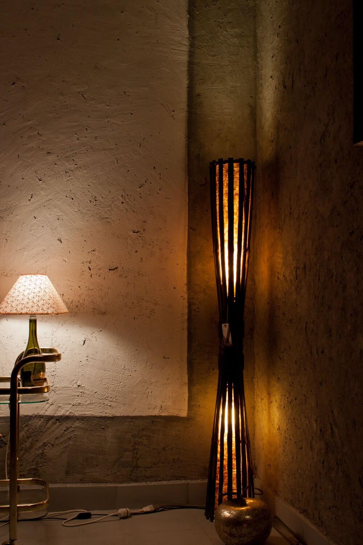 Floor Lamp Rustic Furniture Standing Lamp Wooden Lamp