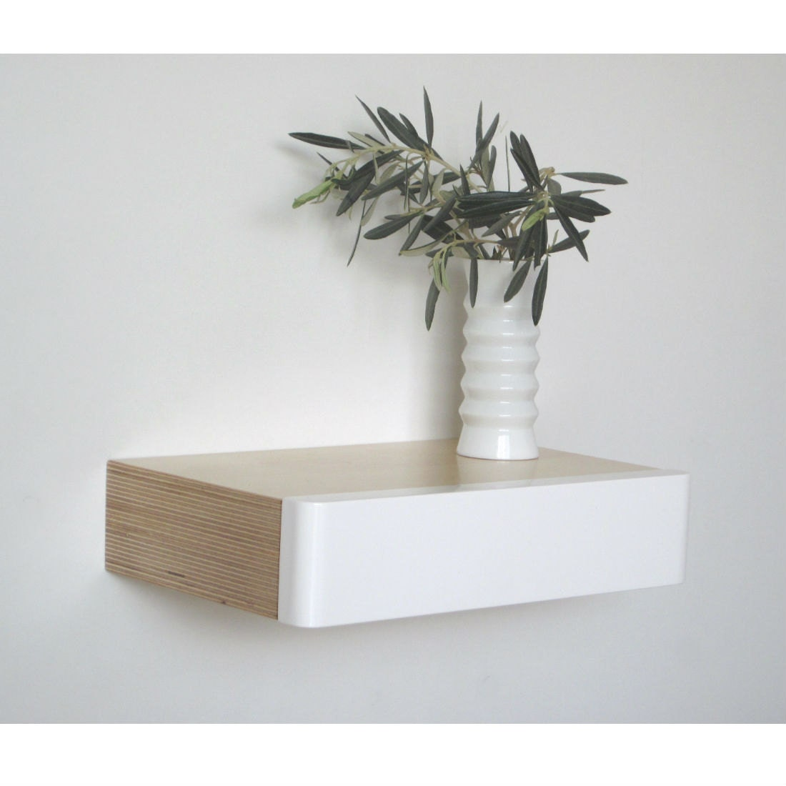 pacco floating drawer in birch white. Black Bedroom Furniture Sets. Home Design Ideas