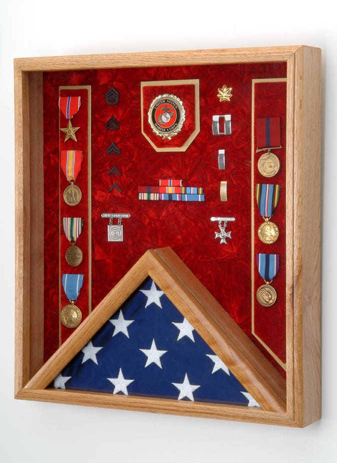 Personalized Military Shadow Box
