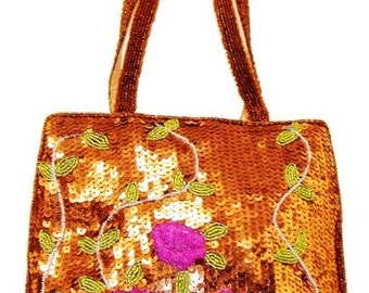 Sequin Beaded Purse # ZPP1374