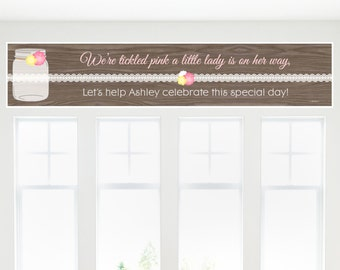 Rustic Floral  Banner- Custom Bridal Shower Decorations