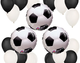 Soccer Print Balloon Kit - Soccer Print Balloon Bouquet for a Baby Shower or Birthday Party