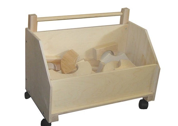 toy chest on wheels library caddy on wheels toy storage on. Black Bedroom Furniture Sets. Home Design Ideas