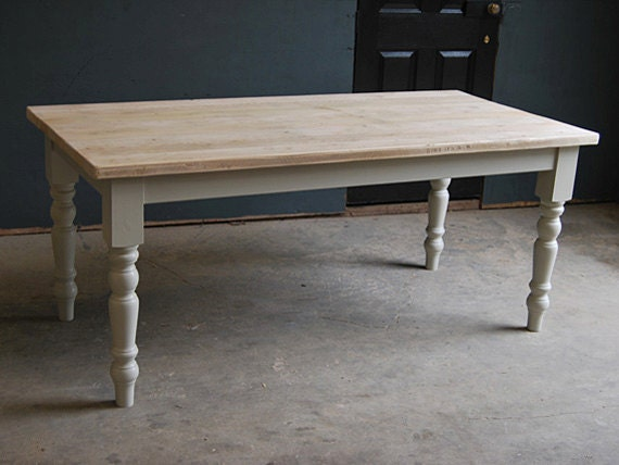 Vintage Kitchen Dining Farmhouse Table made from Reclaimed