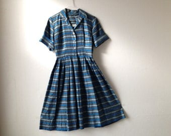 Vintage 1950's stripped Judy Palmer Dress
