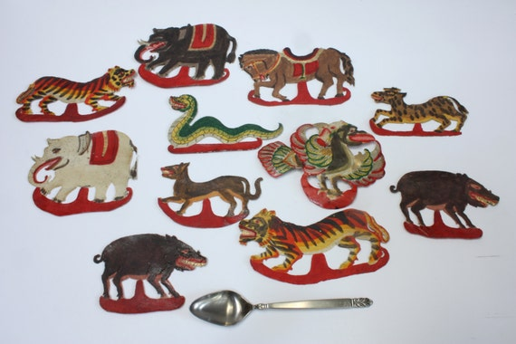 Reduced Price: Animal Cutouts Indonesian by TravelersandTraders