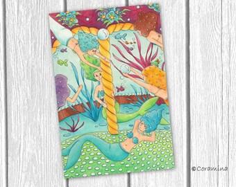 "Original illustration ""mermaid"""