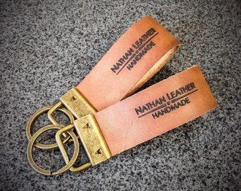 Custom Leather Key Fob / Key Chain / Key Holder