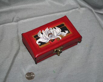 White Lotus Red Leather Box