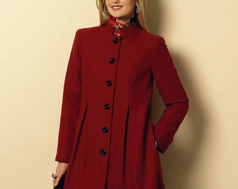 Butterick Sewing Pattern B6141 Misses' Pleated Coats